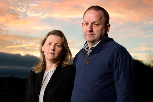 Garda Sgt Maurice McCabe with his wife Lorraine. Photo: Barry Cronin