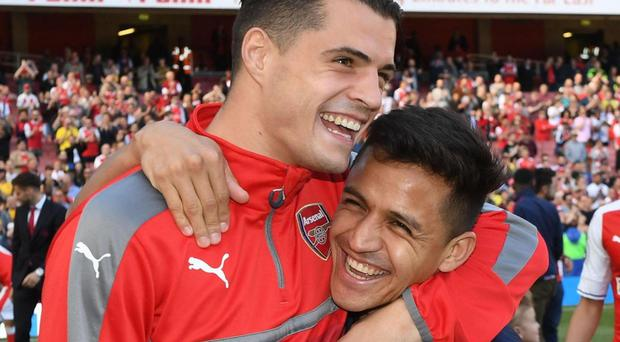 Granit Xhaka hoping Mesut Ozil, Alexis Sanchez will remain at Arsenal