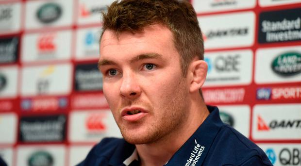 Peter O'Mahony during a British and Irish Lions press conference at the Matariki Cultural Centre in Rotorua, New Zealand. Photo: Stephen McCarthy/Sportsfile