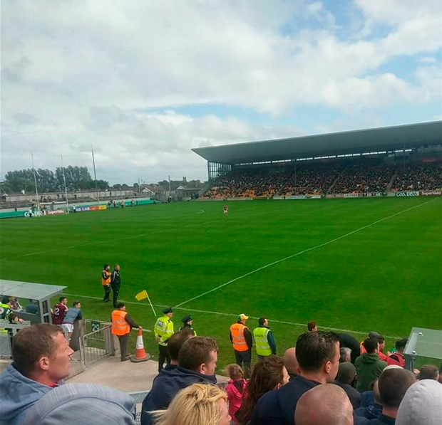 Two Westmeath players have their entire half to themselves in last Sunday's Leinster SFC quarter-final against Offaly in Tullamore.