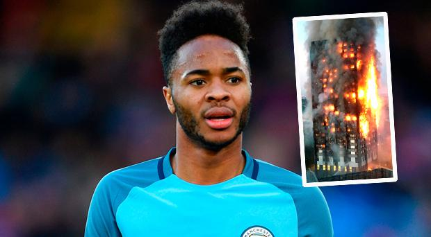 Manchester City winger Raheem Sterling has pledged a financial donation to help those affected by the Grenfell Tower fire in London.