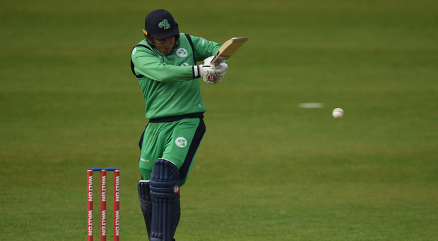 Gary Wilson of Ireland during the One Day International match between Ireland and New Zealand at Malahide Cricket Club in Dublin. Photo by Cody Glenn/Sportsfile