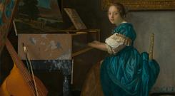 Inspiration and rivals: Young Woman Seated at a Virginal by Vermeer, c1670-72 features in the Dublin exhibition
