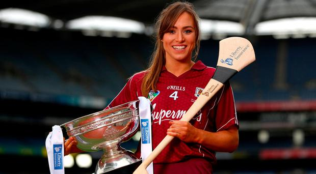 Heather Cooney and Galway take on Dublin today. Phto: INPHO