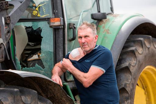 John Hayes was shot while in his tractor Photo: Liam Burke/Press 22