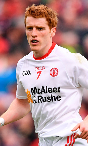 Peter Harte of Tyrone during the Ulster GAA Football Senior Championship Quarter-Final match between Derry and Tyrone at Celtic Park in Derry. Photo: Sportsfile