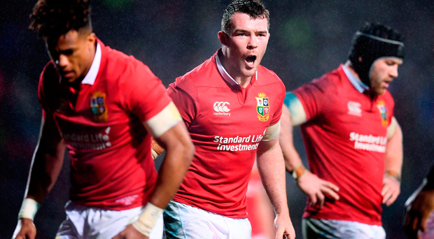 Peter O'Mahony of the British & Irish Lions during the match between the Maori All Blacks and the British & Irish Lions
