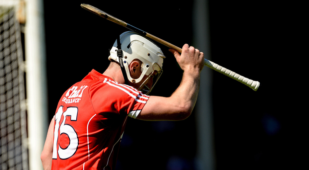 Patrick Horgan of Cork reacts after a missed chance during the Munster GAA Hurling Senior Championship Semi-Final match between Waterford and Cork at Semple Stadium in Thurles, Co Tipperary. Photo by Piaras Ó Mídheach/Sportsfile