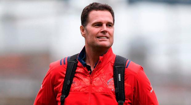 Munster face huge problems with Rassie Erasmus packing his bags to return home. Photo by Stephen McCarthy/Sportsfile