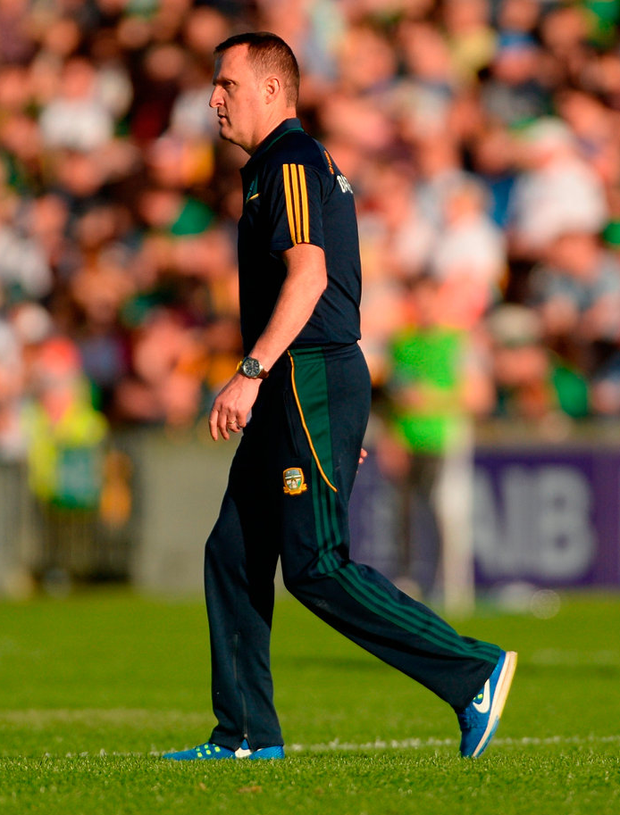 Meath manager Andy McEntee at half-time Photo: Piaras Ó Mídheach/Sportsfile