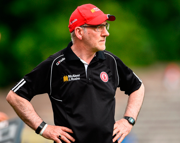 Tyrone manager Mickey Harte Photo: Oliver McVeigh/Sportsfile