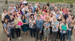Some of the parents who had children in 2016 in Rathmullan. Photo: North West Newspix