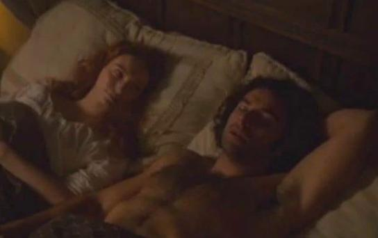 Fans went nuts over topless scene PIC: BBC