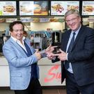 Marty Morrissey and Pat McDonagh at the announcement of the Supermac's sponsorship of the Marty Squad on RTÉ Radio 1 on Sunday's at 6