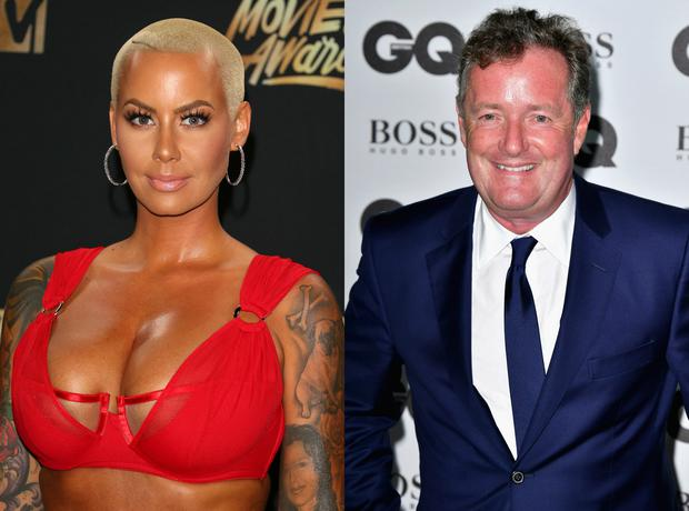 Amber Rose (L) and Piers Morgan. Images: Getty