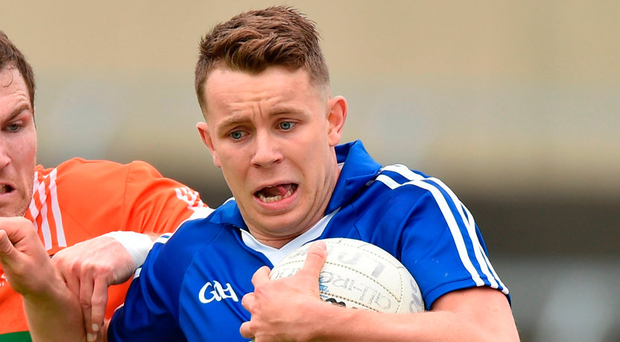 Attride had not recovered in time to play in the recent defeat to Kildare, but until his sending off on Saturday evening at sun-splashed Aughrim he was full of energy and was contributing handsomely to the Laois cause. Photo: Matt Browne/Sportsfile