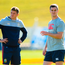 Jonathan Sexton and Owen Farrell are theoretically in competition for the one spot. However, Warren Gatland may choose the option of pairing them together. Photo: Stephen McCarthy/Sportsfile