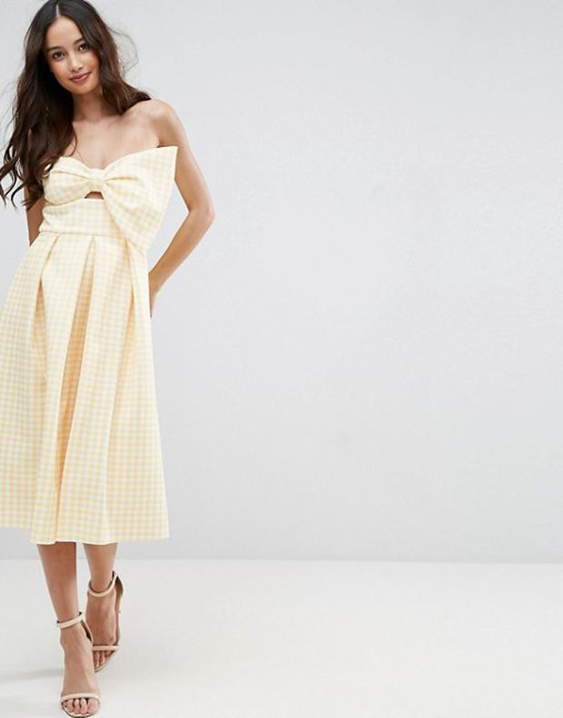 Gingham bow dress from ASOS
