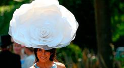 Racegoer Jackie St Claire during day one of Royal Ascot at Ascot Racecourse