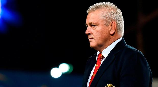British & Irish Lions head coach Warren Gatland during the match between the Chiefs and the British & Irish Lions at FMG Stadium in Hamilton, New Zealand. Photo by Stephen McCarthy/Sportsfile