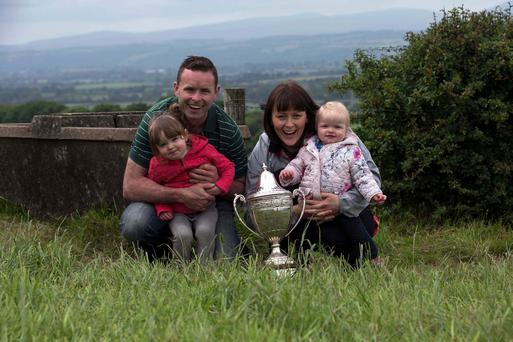TOM and Moya POWER's farm WINNERS OF THE NDC & KERRYGOLD QUALITY MILK AWARDS 2017 with their daughters Ella and Chloe Pictured at the Seminar and Farm Walk - Picture Clare Keogh