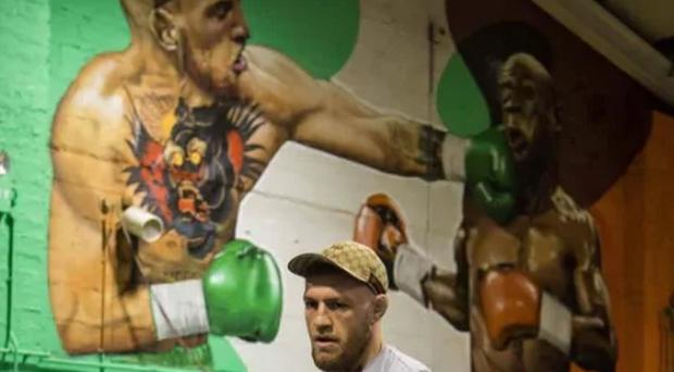 Conor McGregor posted the picture from inside his gym. CREDIT: CONOR MCGREGOR INSTAGRAM