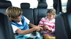 Kids squabbling in the back of a car is one of the main dislikes for drivers