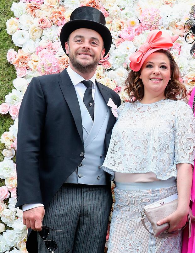 Support: Ant and his wife Lisa Armstrong