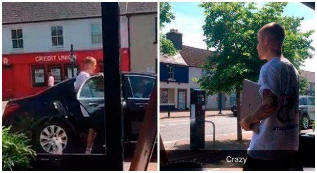Justin Bieber spotted in Maynooth. Co Kildare. Photo: Eoghan Lowe