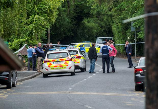 Scene of the shooting on Shelerin Road, Clonsilla.