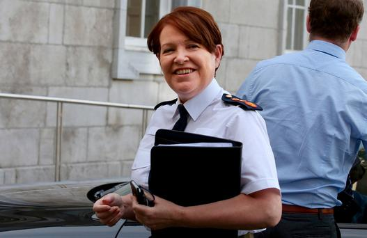 Garda Commissioner Nóirín O'Sullivan arriving for the Public Accounts Committee meeting at Leinster House. Photo: Tom Burke