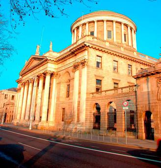 The Four Courts in Dublin is the location of the Supreme Court, High Court, and Central Criminal Court of Ireland. Currently no filming or tweeting is allowed inside the court, unlike in England and Wales