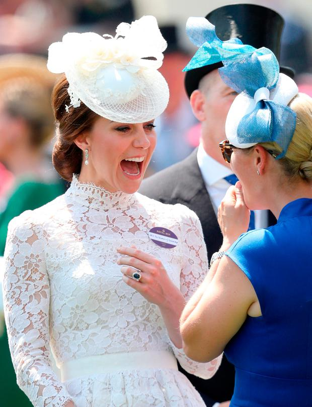 Catherine, Duchess of Cambridge and Zara Philllips attend Royal Ascot 2017 at Ascot Racecourse on June 20, 2017 in Ascot, England. (Photo by Chris Jackson/Getty Images)