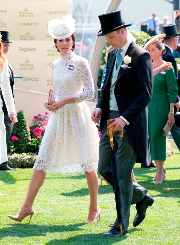 Catherine, Duchess of Cambridge and Prince William, Duke of Cambridge attend day 1 of Royal Ascot 2017 at Ascot Racecourse on June 20, 2017 in Ascot, England. (Photo by John Phillips/Getty Images for Ascot Racecourse)