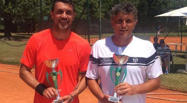 Maldini will be playing alongside doubles partner and coach Stefano Landonio Paolo. Maldini/Instagram