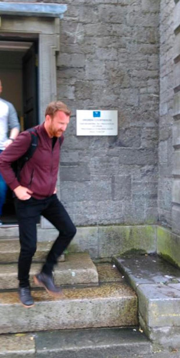 Jason Byrne leaving Swords District Court