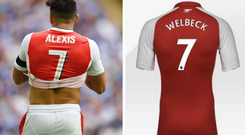 Danny Welbeck was momentarily listed on Arsenal's website as the club's number seven CREDIT: ARSENAL