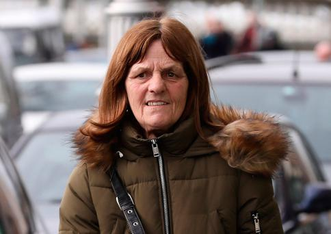 Christina Mulhall (58) of Lower Sean McDermott Street, Dublin pictured leaving the Four Courts yesterday(Wed) after she appeared before the Dublin District Court in relation to social welfare fraud offences. Photo: Collins Courts