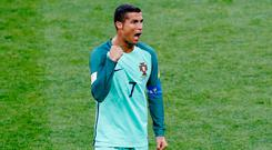 Ronaldo needed just eight minutes to make his mark. Photo: Reuters/Darren Staples