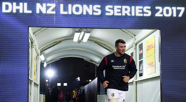 Peter O'Mahony of the British & Irish Lions prior to the match between Crusaders and the British & Irish Lions at AMI Stadium in Christchurch, New Zealand. (Photo By Stephen McCarthy/Sportsfile via Getty Images)