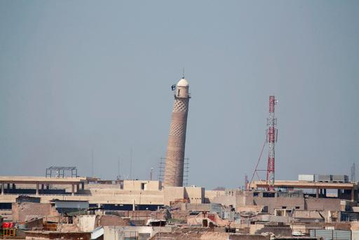 The mosque, with its iconic leaning minaret, in Mosul. Photo: REUTERS/Khalid al Mousily