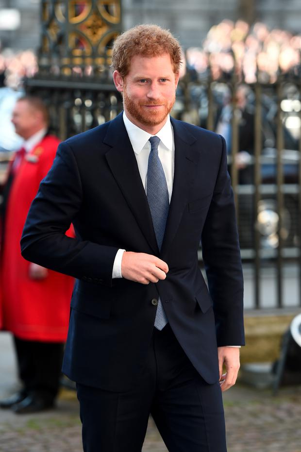 Prince Harry attends the annual Commonwealth Day service and reception during Commonwealth Day celebrations on March 13, 2017 in London, England. (Photo by Eamonn M. McCormack/Getty Images)