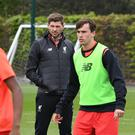 Steven Gerrard will begin his tenure as the U18s boss in early July. Getty