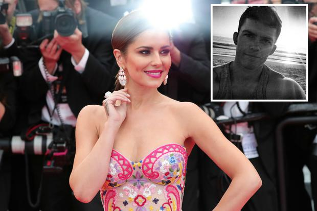 Cheryl and personal trainer Shane Collins (inset).