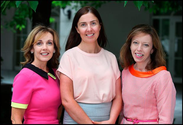 Attending the WXN Leadership Summit at the Intercontinental Hotel in Ballsbridge was from left Alison Cowzer from East Coast Bake who was an Entrepreneur Category Winner, Louise Foody from Kingspan who was a Business Leaders Category Winner and Grainne Quinn from Perrigo who was a Business Leaders Category Winner. Pic Steve Humphreys 22nd June 2017