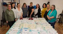 The Shannon Angels group making tiny gowns for premature and stillborn babies