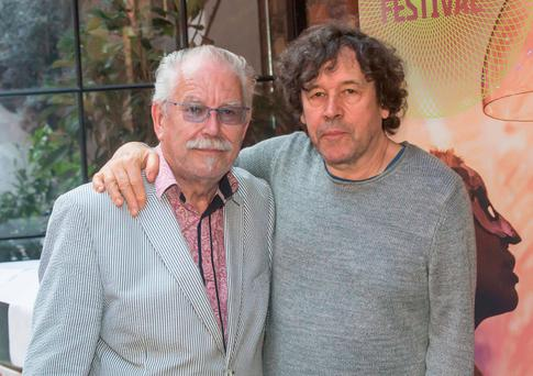 Robert Ballagh and Stephen Rea at the Kilkenny Arts Festival Launch at Roberta's. Picture: Pat Moore