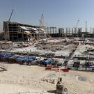 A general view during a tour at the construction site of the Al Bayt Stadium and the workers accommodation on January 9, 2017 in Doha, Qatar. Al Bayt Stadium will be a host venue for the 2022 FIFA World Cup Qatar, which will have a capacity of 60,000 and host matches through to the semi-final round. (Photo by Lars Baron/Bongarts/Getty Images)