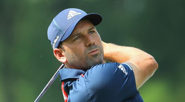 Sergio Garcia of Spain in action during the pro-am event ahead of the BMW International Open at Golfclub Munchen Eichenried on June 21, 2017 in Munich, Germany. (Photo by Warren Little/Getty Images)