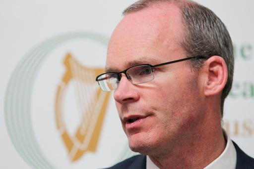 Minister for Foreign Affairs & Trade with Special Responsibility for Brexit, Simon Coveney TD at the launch of the Report on the Implications of Brexit for the Good Friday Agreement at Leinster House in Dublin. Photo: Stephen Collins /Collins Photos